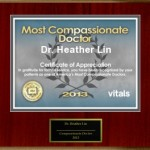 Vital's Compassionate Doctor Award 2013